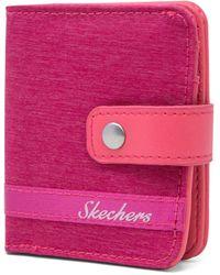 Skechers Rfid Blocking Mini Bifold Travel Accessory-bi-fold Wallet - Pink