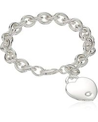 Guess - Basic G Logo Heart Link Bracelet - Lyst