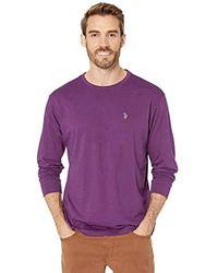 U.S. POLO ASSN. Long Sleeve Crew Neck T-shirt - Purple