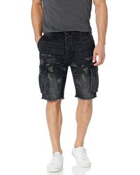 Hudson Jeans Cut Cargo Short Denim - Black