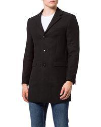 FIND Wool Mix Smart Coat - teau - Noir