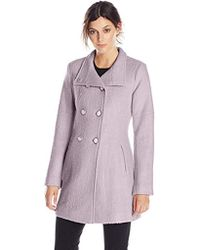 Jessica Simpson - Double-breasted Boucle Coat - Lyst