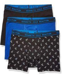 Kenneth Cole Reaction Cotton Stretch Boxer Brief Underwear - Black