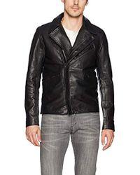 J.Lindeberg Smooth Leather Jacket - Black