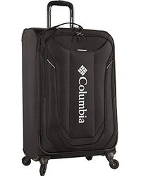 Columbia Lightweight Expandable Spinner Luggage Suitcase For Check In - Black