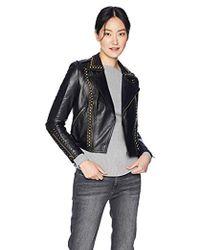 Ramy Brook Yoma Studded Leather Jacket - Black
