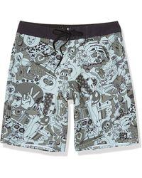 RVCA Mens Va Trunk Board Shorts - Blue