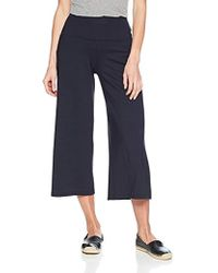 Susana Monaco Allison Widelegged Cropped Culotte Pant In Solid Color - Blue