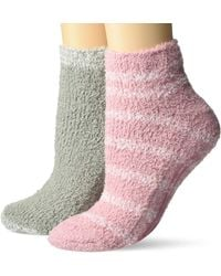 Dr. Scholls 2 Pack Soothing Spa Low Cut Lavender + Vitamin E Socks With Silicone Treads - Pink