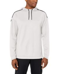 Peak Velocity Stretch Spacer Fleece Pull-over Athletic-fit - White