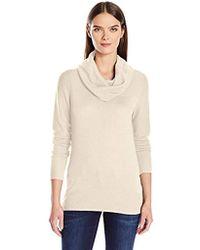 3331cb3069669 Lyst - Calvin Klein Womens Colorblock Knit Mock Turtleneck Sweater