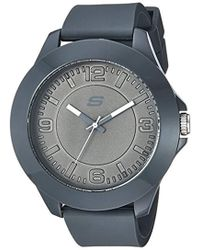Skechers - Quartz Plastic And Rubber Casual Watch, Color:grey (model: Sr5105) - Lyst