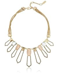 Kenneth Cole - Tectonic Plates Pave Shell Geometric Open Statement Necklace - Lyst