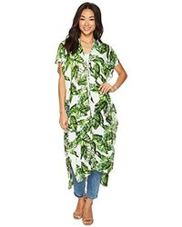 Steve Madden S Exotic Island Long Lace-up Duster - White