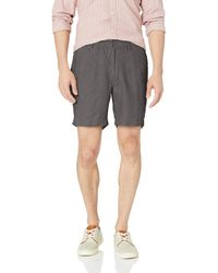 "28 Palms Relaxed-fit 7"" Inseam Linen Short With Drawstring - Gray"