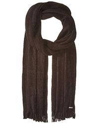Calvin Klein Soft Acrylic Fringe Scarf - Black