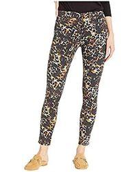 AG Jeans Printed Sateen Farrah Skinny Ankle - Black
