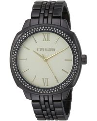 Steve Madden Rectangle Case Charm Wrap Watch For (various Colors) - Black