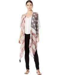 Steve Madden Stars And Stripes Midi Kimono - Multicolor