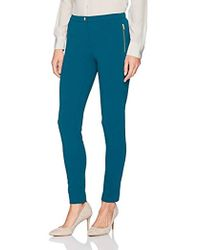 Calvin Klein - Petite Scuba Crepe Pant With Side Zippers - Lyst