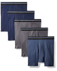 Amazon Essentials 5-pack Tag-free Boxer Briefs - Blue