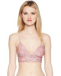 O'neill Sportswear Calvin Floral Mid Bralette Bikini Top - Multicolor