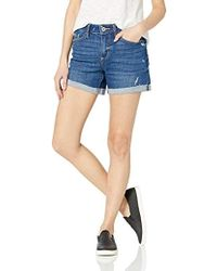 PAIGE Parker Relaxed Short W/raw Cuff - Blue