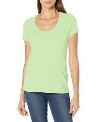 Nautica Easy Comfort Scoop Neck Supersoft 100% Cotton Solid T-Shirt - Multicolore