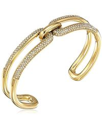Michael Kors - S Iconic Link Pave Open Cuff Bracelet - Lyst