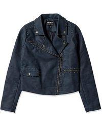 William Rast Audacious Alexa Stud Moto Jacket - Blue