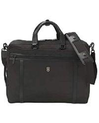 Victorinox Werks Pro 2.0 2-way Carry Laptop Bag With Lockable Zippers - Black