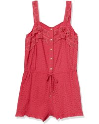Sperry Top-Sider Button Down Romper - Red
