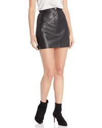 BB Dakota Keep Livin' Vegan Leather Mini Skirt - Black