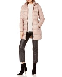 Lucky Brand 3/4 Packable Down With Hood - Pink