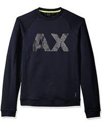 Armani Exchange | Neoprene Swetshirt With X Logo - Blue