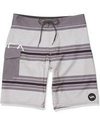 RVCA Uncivil Stripe Mens Boardshorts - Gray