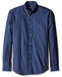 Timo Weiland - Patrick Ribbed Long Sleeve Button Down - Lyst