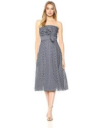 Shoshanna - Ellen Sleeveless Gingham Dress - Lyst