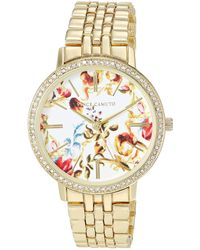 Vince Camuto Crystal Accented Bracelet Watch - Metallic