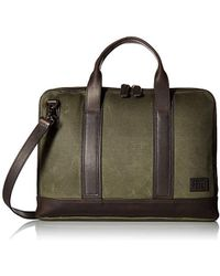 Frye Carter Slim Brief Case - Green