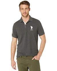 Polo Assn Mens Short-Sleeve Polo Shirt with Applique U.S