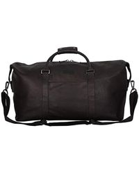 """Kenneth Cole Reaction I Beg To Duff-er Full-grain Colombian Leather Top Zip 20"""" Carry-on Duffel Travel Bag - Brown"""