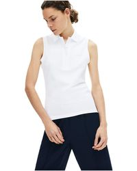 Lacoste Classic Sleeveless Slim Fit Polo - White