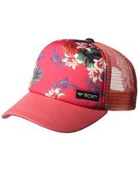 20266c9f7fc Lyst - Roxy Just Ok Girls Trucker Hat in Blue