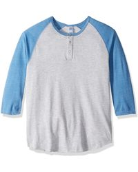 Alternative Apparel Eco-jersey 3/4-sleeve Raglan - Blue