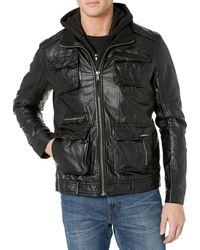 Members Only L-train Leather Jacket - Black