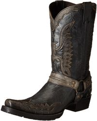 Stetson Outlaw Eagle Western Boot - Black