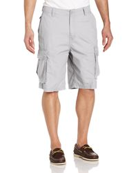 Nautica Mini Ripstop Twill Cargo Short - Gray