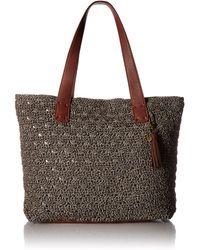 The Sak Fairmont Crochet Tote - Metallic