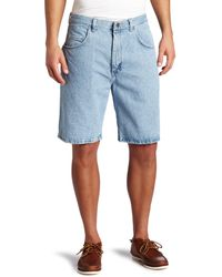 Wrangler Rugged Wear Big & Tall Relaxed Fit Short, Vintage Indigo, 50 - Blue
